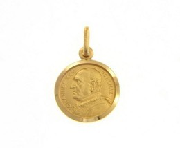 SOLID 18K YELLOW GOLD POPE JOHANNES JOHN XXIII MEDAL VERY DETAILED MADE IN ITALY image 2