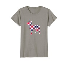 Australian Cattle Dog Plaid Silhouette T-Shirt v1 - $19.99+
