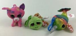 Beanie Boos TY Keychain Nori Cancun Zippy 3pc Lot Mini Clip Plush Stuffe... - $15.79