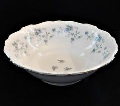 """Johann Haviland Bavaria 8 1/2"""" Serving Bowl-Blue Garland Bavaria Germany - $39.60"""