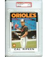 1986 topps super cal ripken jr psa 8 graded baltimore orioles rare - $119.99