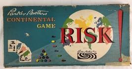 Vintage Risk Board Game Original Box Wood Wooden Pieces - $28.04