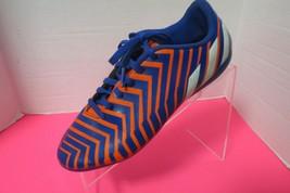 Adidas Boys Youth Soccer Cleats Blue Orange White Youth Size 5 1/2 - $19.31