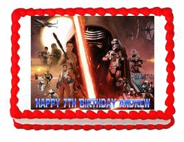 Star Wars The Force Awakens Edible Cake Image Cake Topper - $8.98+