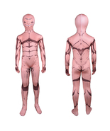 Iron Man Costume Suit Kid Cosplay Party Full Body Spandex Lycra Zentai - $37.65