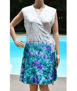 Womens Summer Wrap Dress Rayon Sleeveless Multi Color  - $11.20