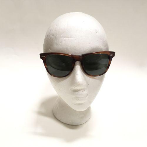 6ce83a6040 RayBan B&L Wayfarer II Sunglasses Vintage Shiny Tortoise Frame Hipster  Glasses