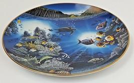 Danbury Mint Underwater Paradise Serenity Of Waipio Plate 1991 Robert Lyn Nelson image 2