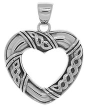 Jewelry Trends Sterling Silver Celtic Heart Shaped Pendant - $43.99