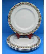 "Royal Daulton Fireglow 10 1/2"" Dinner Plates Set Of 4 Plates EUC - $47.53"