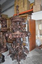 "Nine feet tall Bronze, Tiered Outdoor pond Fountain -  59""x 59"" - $14,800.00"