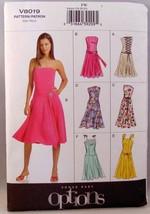 Vogue Pattern V8019 woman's plus size dress 18-22 - $6.44