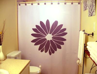 Flower daisy shower curtain  55