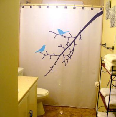 Birds on a branch shower curtain 2  60