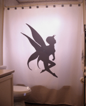 SHOWER CURTAIN fairy dance faerie fantasy pixie elf gal - $65.00