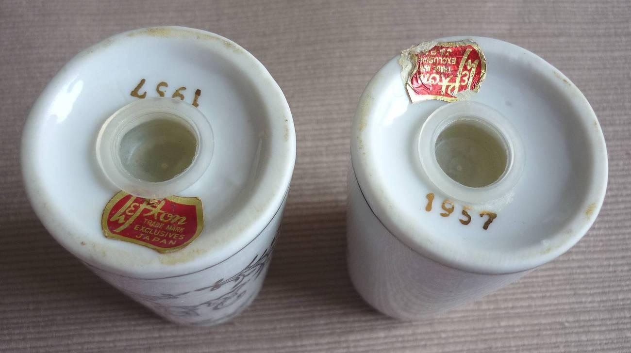 Lefton Silver 25th Anniversary Salt Pepper Shaker Set