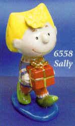 Peanuts Snoopy Sally Brown w/gift figure - Flambro 6558 - NI