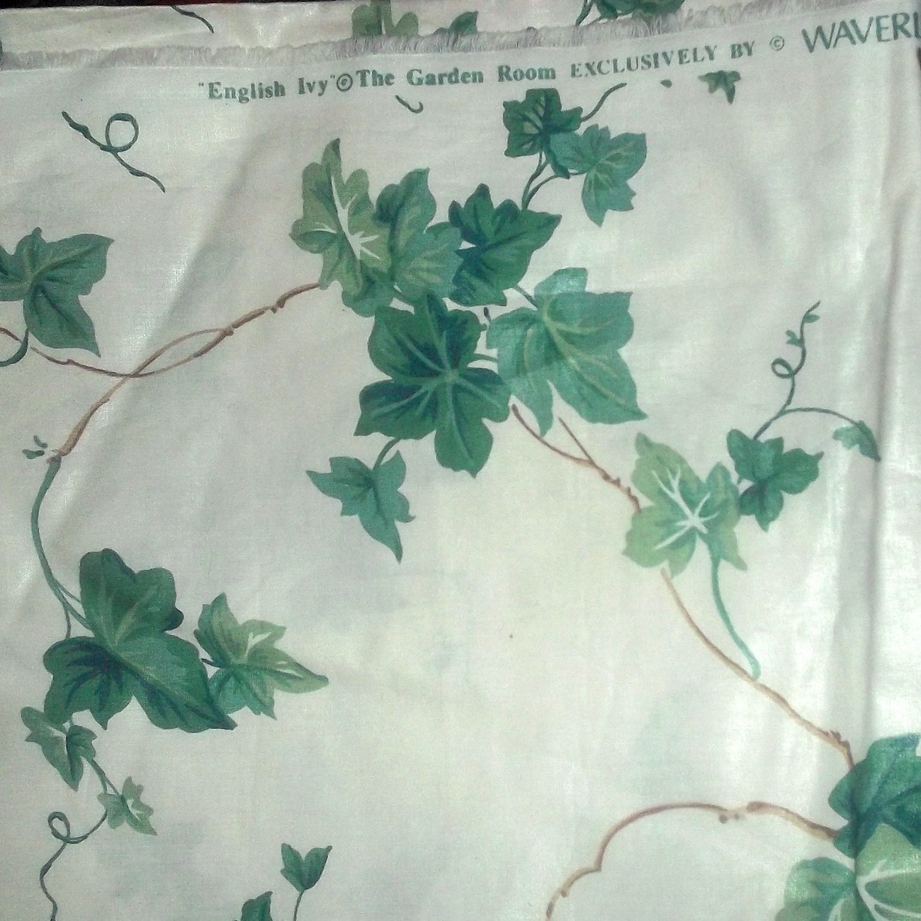 Vintage waverly english ivy garden screen and 24 similar items for Garden screening fabric