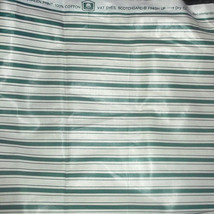 Vintage Waverly Candy Stripe Screen Print Cotto... - $35.00