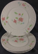 Royal Worcester Bouquet Dinner Plates Lot of 4 Pink Flowers English Porc... - $24.95