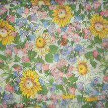 Vintage Cotton Floral Flowers Sunflower Feedsac... - $50.00