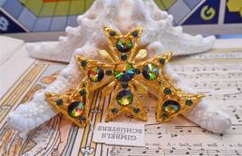 NEW w tags WEISS Signed Maltese Cross  Earring SET Vintage rivoli waterm... - $177.99