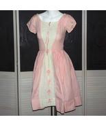 Vintage 50s Madmen Rockabilly Day Dress Garden Party Sweet 16 Dress Lace... - $100.00