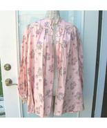 Vintage 1930s 30s 40s Satin Taffeta Bed Jacket Floral Satin Bolero Robe - $100.00