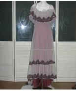 Vintage Ruffled Chiffon Hippie Gypsy Garden Party Dress Peasant Fairy Ma... - $125.00
