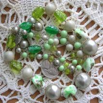 Vintage Venetian Glass Faux Pearl Necklace Art Glass Beads - $63.75