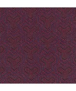4.5 yds Designtex Upholstery Fabric MCM Tessellate Garnet Purple 3379-601 Q - $128.25