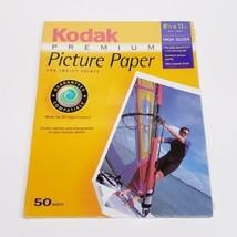 Kodak Premium Hi Gloss 50-Sheet 8.5 X 11 Photo Paper Looks Feels Like Real Photo - $24.64
