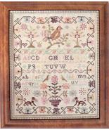 Pink Sparrow Sampler cross stitch Country Stitches/With Thy Needle &Thread - $14.40