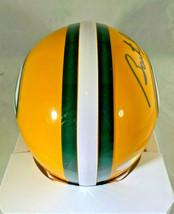 BART STARR / NFL HOF / AUTOGRAPHED GREEN BAY PACKERS LOGO MINI HELMET / STEINER image 4