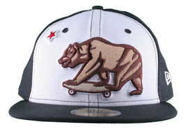 Dissizit California Skating Bear Sk8 Black W New Era 59FIFTY Fitted Base... - £16.87 GBP