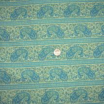 "Vintage 44"" Cotton Quilt Fabric 3 Yds Teal Blue... - $27.21"