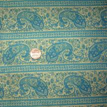 "Vintage 44"" Cotton Quilt Fabric 3 Yds Teal Blue... - $25.50"