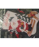 "Bucilla - Skiing Santa - 15"" Felt Applique Stocking Kit 33701 - $59.39"