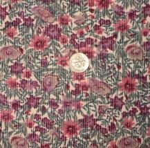 Vintage Pinwale Cordouroy Fabric Floral Cordour... - $17.00
