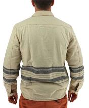 NEW LEVI'S MEN'S SHAN CLASSIC LONG SLEEVE STRIPED WOOL SHIRT BISCOTTI 3LDLW205 image 4