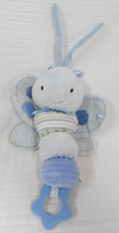 Carter's BLUE Dragonfly BUTTERFLY CRIB Pull Toy PLUSH Musical  LULLABY G... - $14.85