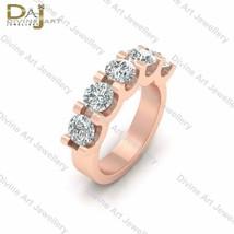 5 Stone Engagement Ring For Women White Moissanite 5 Stone Wedding Band ... - £305.85 GBP