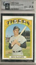 1972 Topps #725 Dick Mc Auliffe Gai 7.5 Near Mint+ - $22.72