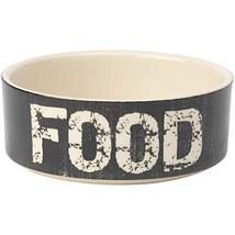 PetRageous 2-Cup Food Vintage Pet Bowl, 5-Inch, Black/Natural - £14.93 GBP