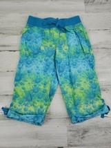 Girls SO Size 8 Sunflower Drawstring Elastic Waist Cropped Capri Pants - $9.69
