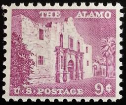 1956 9c The Alamo, San Antonio, Texas Scott 1043 Mint F/VF NH - $1.09
