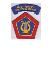 Military Band US Army Field Army Band and Chorus Insignia & Tab USAREUR Patch 2. - $9.99