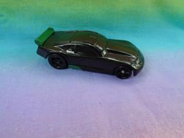 Hot Wheels Mattel 2011 General Mills Black / Green Pullback Action Plast... - $1.56