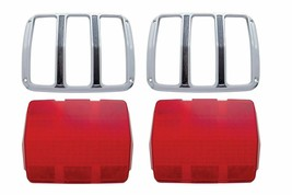 United Pacific Reproduction Tail Light Lens & Bezel Set 1964-1966 Ford M... - $67.30