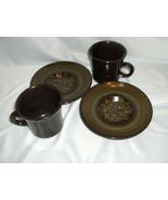 2 Vintage Cup & Saucer Sets Franciscan China Pottery Brown Madeira Calif... - $19.79